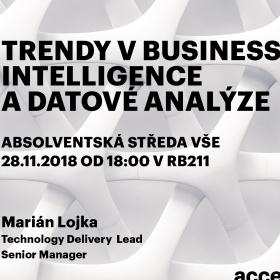 """28. listopadu Absolventská středa: """"Trendy v Business Intelligence a datové analýze"""""""