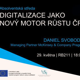 29. května 2019 Absolventská středa: Digitalizace jako nový motor růstu ČR