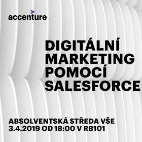 """3. dubna 2019 Absolventská středa: """"Digitální marketing pomocí Salesforce"""""""