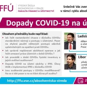 2. prosince 2020 Online panelová diskuse: Dopady COVID-19 na účetnictví a audit