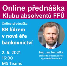 2. června online přednáška: KB lídrem v nové éře bankovnictví