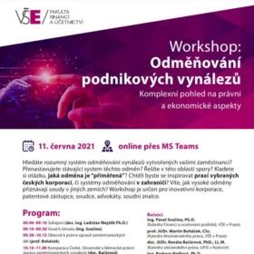 11. června 2021 workshop: Odměňování podnikových vynálezů
